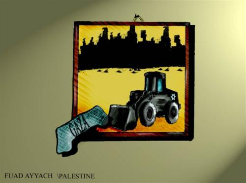 Cartoon: GAZA TRAGEDY (medium) by FADI1975 tagged kljlljkk