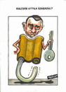Cartoon: Attila Kulcsar (small) by Dluho tagged broker