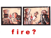 Cartoon: FIRE (small) by Dluho tagged fire