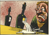 Cartoon: wine accident (small) by Dluho tagged wine