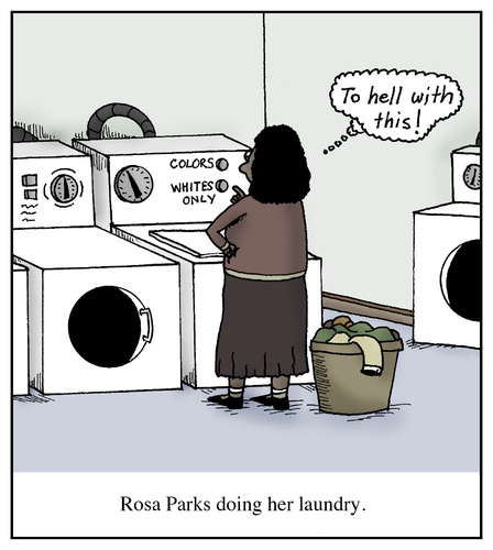 Cartoon Clothes Dryer ~ Rosa parks doing her laundry by humoresque politics