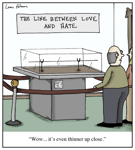 Cartoon: The Line Between Love and Hate (medium) by Humoresque tagged hate,loving,lovers,lover,loves,love,lines,line,hatred,museum,sayings,saying,exhibition,art,thin,exhibits,exhibit,museums,couples,couple,displays,display,exhibitions,marriage,relationships,relationship,idiom,closeness,marital,marriages