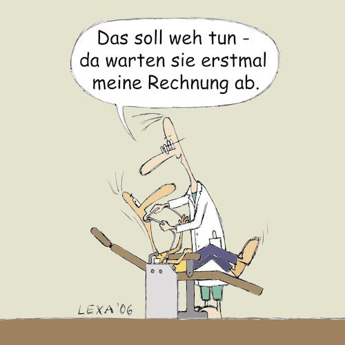 Zahnarztrechnung By Lexaart Politics Cartoon Toonpool