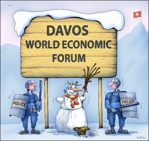 Cartoon: 02 Davos (medium) by kurtu tagged davos,davos