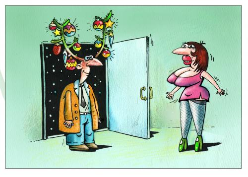 geweih By kurtu | Media & Culture Cartoon | TOONPOOL