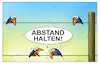 Cartoon: abstand (small) by kurtu tagged abstand