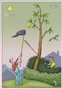 Cartoon: Gierigkeit (small) by kurtu tagged garten,baum,ernte