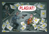 Cartoon: PLAGIAT (small) by kurtu tagged plagiat