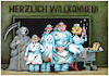 Cartoon: willkommen! (small) by kurtu tagged pandemie
