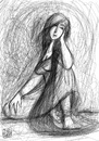 Cartoon: What can I do (small) by Amal Samir tagged lady,sad,long,hair