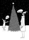 Cartoon: It is a curious fact... (small) by Marjanne Mars tagged triviality,christmas,trivial,tree