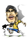 Cartoon: kaka (small) by cakBOY tagged kaka,brazil,futball,caricature,sport,world,cup