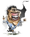 Cartoon: tevez (small) by cakBOY tagged carlos,tevez,argentina,futball,soccer,caricature,cartoon,sport