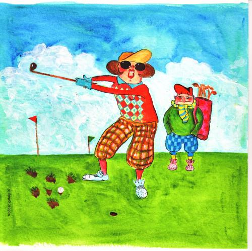 cartoon golf pictures