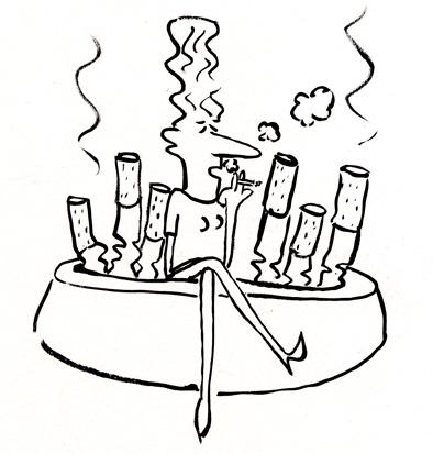 Cartoon: smoking (medium) by siobhan gately tagged smoking,nosmoking,stopsmoking