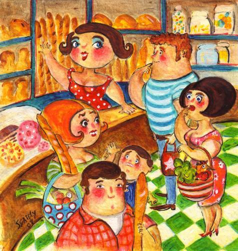 Flirten bäckerei