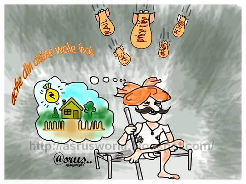 Cartoon: Ache din aane wale hai (medium) by asrus tagged din,ache,pm