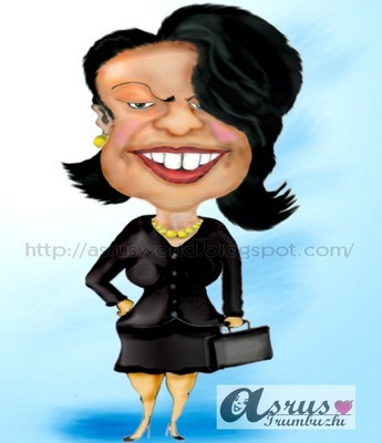 Cartoon: condoleeza rice (medium) by asrus tagged condoleeza,rice
