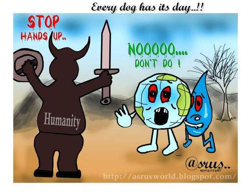 Cartoon: every dog has its day..!! (medium) by asrus tagged water