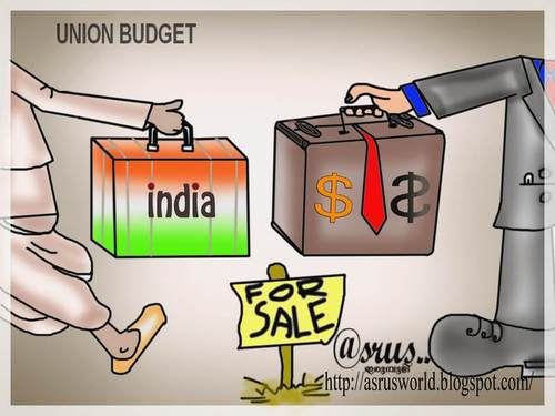 Cartoon: the union budget of india (medium) by asrus tagged india,budget