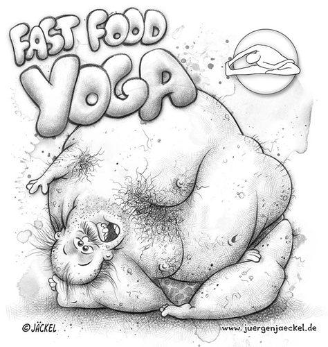 Fast Food Cartoons Cartoon Fast Food Yoga