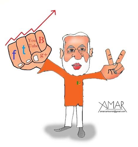 Narendra Modi By Amar cartoonist | Politics Cartoon | TOONPOOL