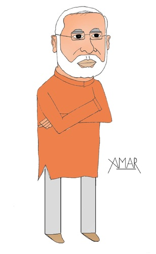 Cartoon: Narendra Modi Caricature (medium) by Amar cartoonist tagged narendra,modi,caricature