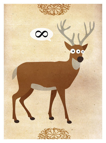 Cartoon: Mutant Deer (medium) by thomas_hollnack tagged deer,mutant,eternity