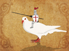 Cartoon: Pigeon Knight (small) by thomas_hollnack tagged knight,pigeon,streetart