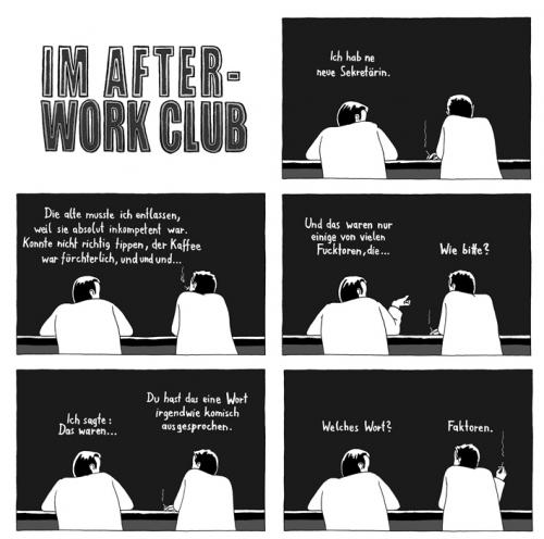 Cartoon: Im after-work club 1 (medium) by Tobias Wieland tagged after,work,club,fun,funny,language,deutsch,german,humour,humor,