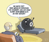Cartoon: ... (small) by Tobias Wieland tagged psychiater therapeut billard pool couch eightball schwarze kugel