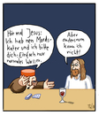 Cartoon: ... (small) by Tobias Wieland tagged jesus,kater,wunder,miracle,hangover
