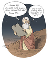 Cartoon: Best of Bibel (small) by Tobias Wieland tagged gott,moses,cartoon,tobias,wieland,kirche,mose,religion,zehn,gebote,gema,youtube,internet,best,of,top,10,ten,berg,bibel,altes,testament,verboten,streaming,download,abmahnung