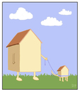 Cartoon: Haustier (small) by Tobias Wieland tagged haus,tier,haustier,gassi,park,gras,wiese