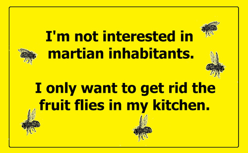 Cartoon: Martian inhabitants (medium) by Marbez tagged martian,inhabitants,fruit,flies