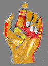 Cartoon: Hand und Fingerzweig eins (small) by Marbez tagged hand,und,fingerzweig,eins