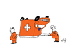 Cartoon: Krankentransport (small) by Marbez tagged kranken,transport