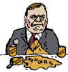 Cartoon: John Prescott (small) by Dom Richards tagged john,prescott,caricature,politician,labour,vomit,autobiography