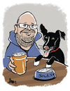Cartoon: Mike and Socks (small) by Dom Richards tagged caricature