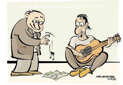 Cartoon: music.. (medium) by azizyavuzdogan tagged music,aziz,yavuzdogan,cartoon,karikatür