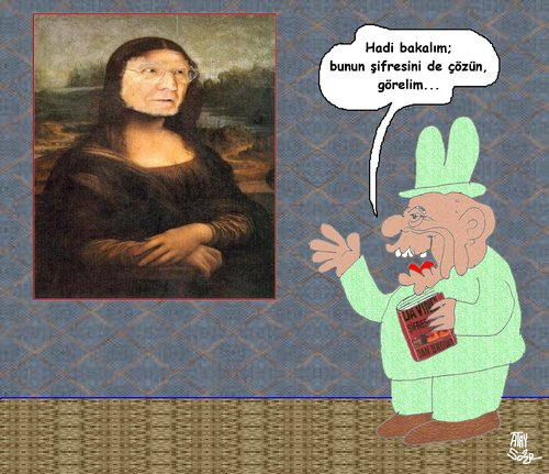 Cartoon: ressam1 (medium) by ataysozer tagged monalisa