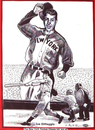 Cartoon: Joe DiMaggio unique drawing (small) by ray-tapajna tagged joe,dimaggio,baseball,hall,of,fame,new,york,yankees,hero