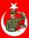 Cartoon: Recep Tayyip Erdogan Soldiers an (small) by Hilmi Simsek tagged soldiers,and,money,recep,tayyip,erdogan,turkey,flag,general