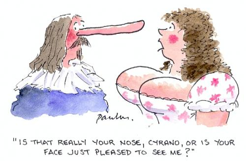 Cartoon: Is that your nose? (medium) by Paulus tagged cyrano,