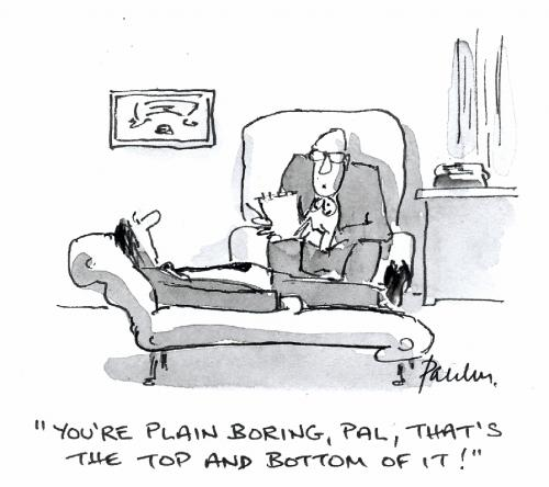 Cartoon: Plain Speaking (medium) by Paulus tagged psychiatrist,therapy,
