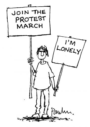 Cartoon: Protester (medium) by Paulus tagged youth,
