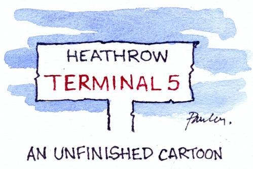 Cartoon: Unfinished (medium) by Paulus tagged airport,