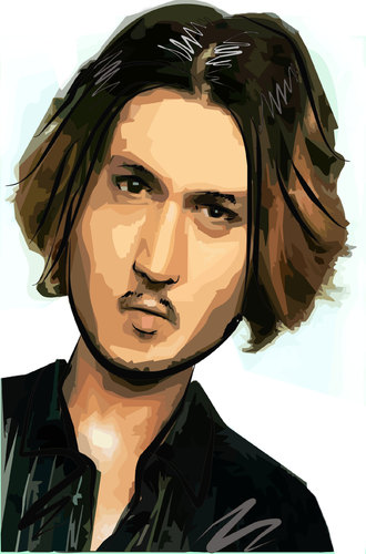 Cartoon: Jhonny Depp (medium) by yan setiawan tagged celebrity