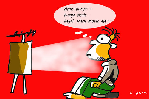 Cartoon: KPK on television (medium) by yan setiawan tagged crazynews