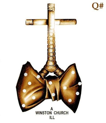 Cartoon: WINSTON CHURCHILL (medium) by QUIM tagged winston,smoking,church,ill